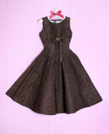 Brown dress vintage