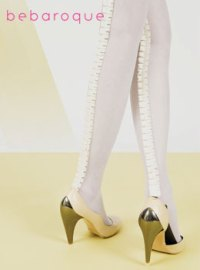 ruffle seamed tights