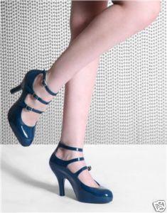 Vivienne Westwood Blue 3-Strap Heels