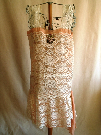 1920s Fashion Cream Lace Minidress