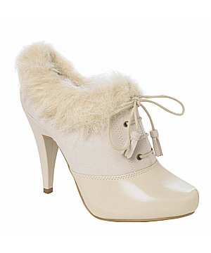 fluffy cuff fur trimmed ankle boots