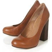 GRADE Wood Heel Court Shoes topshop