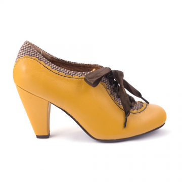 irregular choice yellow brogue heels