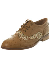 Tan Floral Brogue miss selfridge