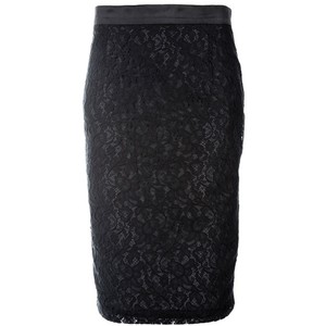 Black Dolce & Gabbana Pencil Skirt (Lace)