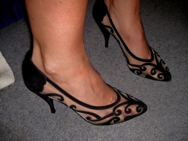 Amazing Vintage Sheer Heels